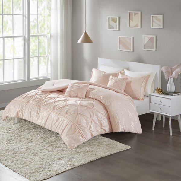 House Of Hampton Myron Metallic Comforter Set Reviews Wayfair