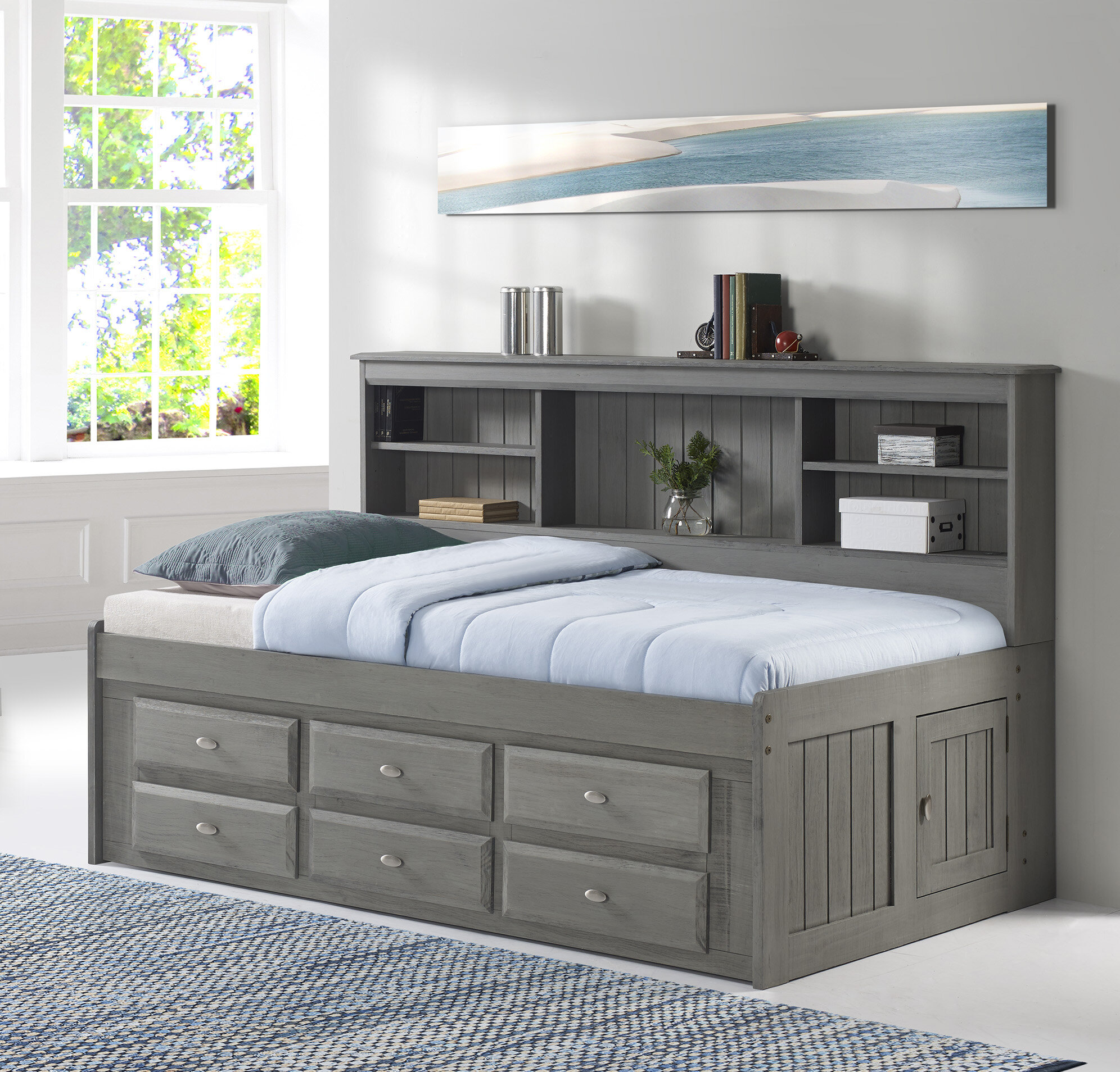 full size bed with drawers