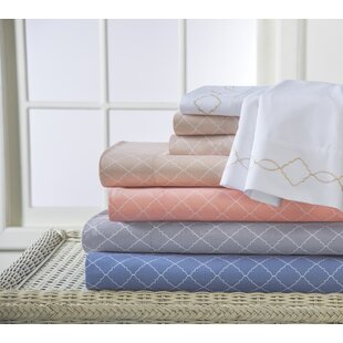 Best Reviews Revina Print/Embroidered Bonus Sheet Set By Elite Home Products
