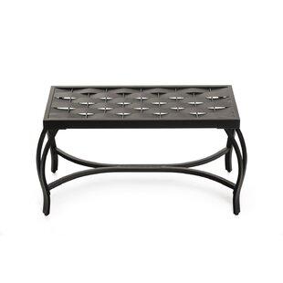 Parthenia Weave Metal Bench by Ebern Designs