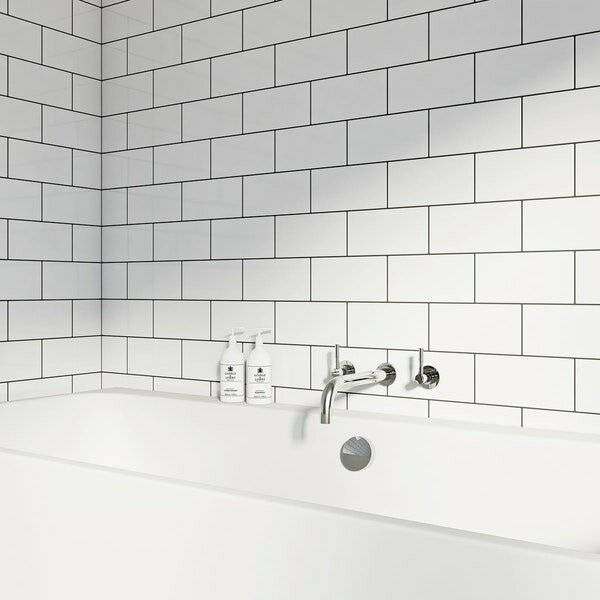 WS Tiles Value Series X Ceramic Subway Tile In White Reviews - 4 by 8 subway tile