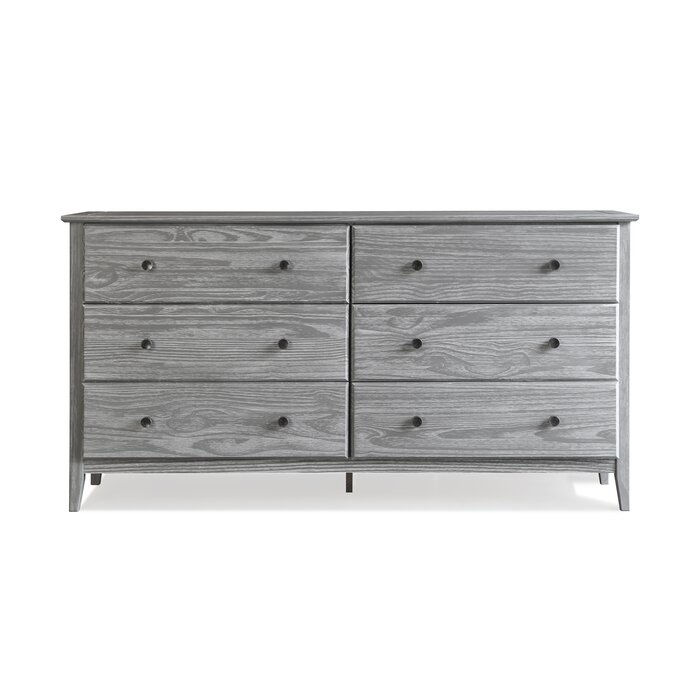 Grain Wood Furniture 6 Drawer Double Dresser Reviews Wayfair