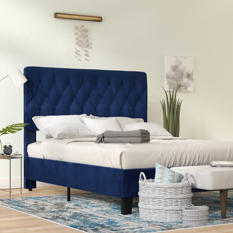 Kirtley Tufted Low Profile Upholstered Standard Bed