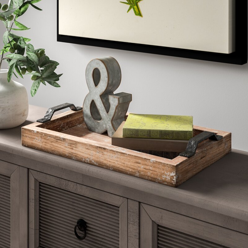 Paulita Distressed Accent Serving Tray by Gracie Oaks
