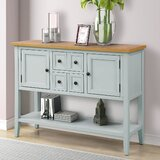 Hinderliter 46'' Solid Wood Console Table by Canora Grey