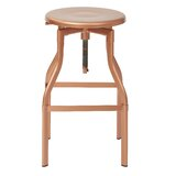 Brunet Swivel Adjustable Height Bar Stool by Gracie Oaks