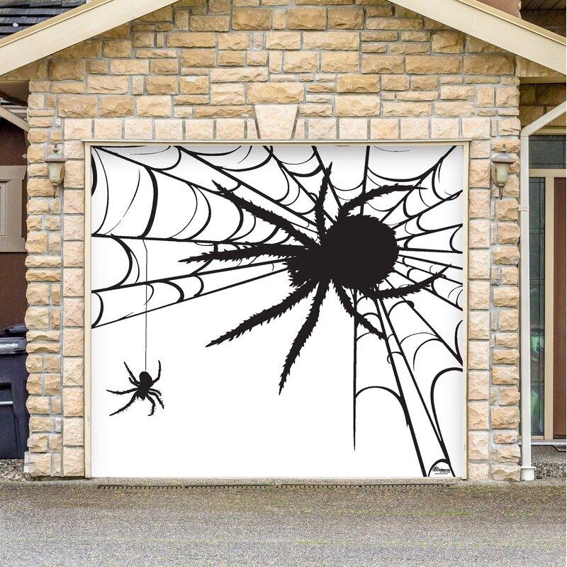 Spiders Halloween Garage Door Mural