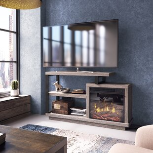Louann TV Stand for TVs up to 55 with Fireplace by Ivy Bronx