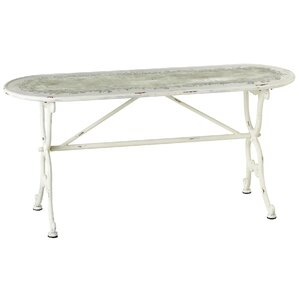 Kingsbury Oval Distressed Backless Bench by Ophelia & Co.