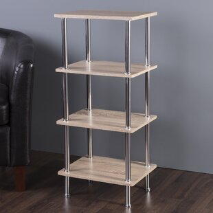 Adelinna 4 Tier Etagere Bookcase Latitude Run