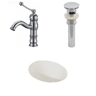 Compare prices Ceramic 20 Wall Mount Bathroom Sink with Faucet and Overflow By American Imaginations