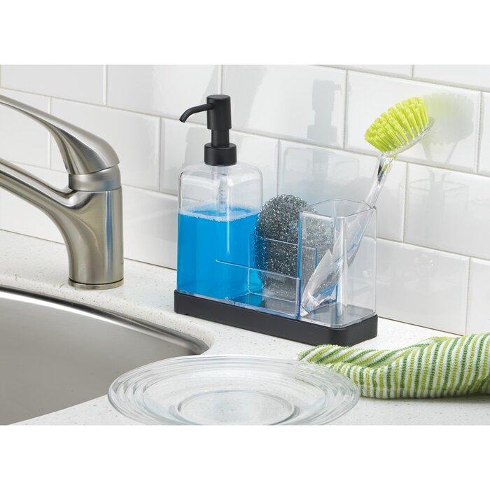 Jorgensen Kitchen Soap Dispenser Pump, Sponge, Scrubby and Dish Brush Caddy  Organizer