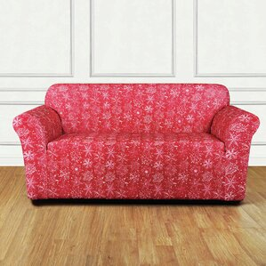 Snowflake Stretch T-Cushion Loveseat Slipcover by Sure Fit