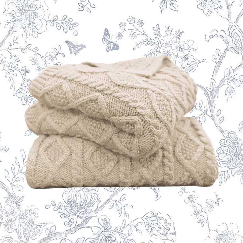 Ashley Cable Knit Throw