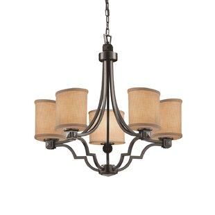 Sav 5 Light Oval Shaded Chandelier by Red Barrel Studio