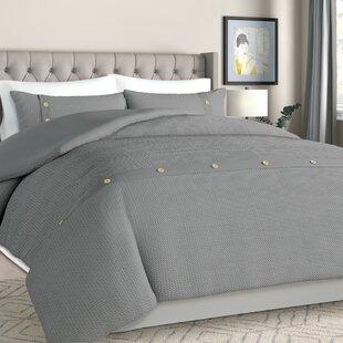 Carmella 3 Piece 100% Cotton Duvet Cover Set