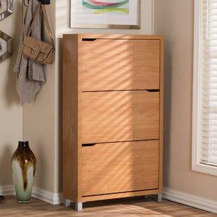 Cade Modern 18 Pair Shoe Storage Cabinet