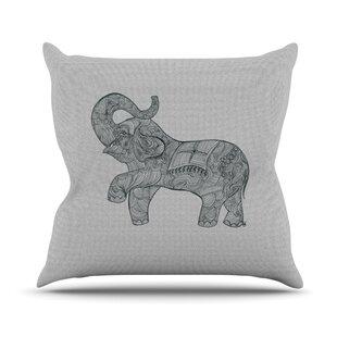 Elephant Outdoor Throw Pillow