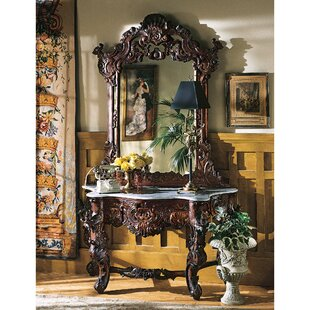 Savings Hapsburg Console Table and Mirror Set By Design Toscano