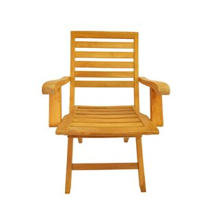 Andrew Folding Teak Patio Dining Chair (Set of 2)