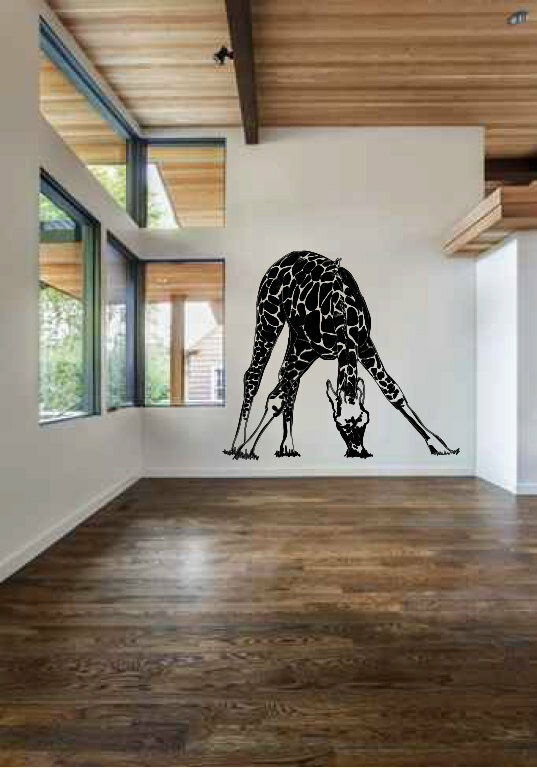 zoomie kids isabeau huge giraffe wall decal   wayfair