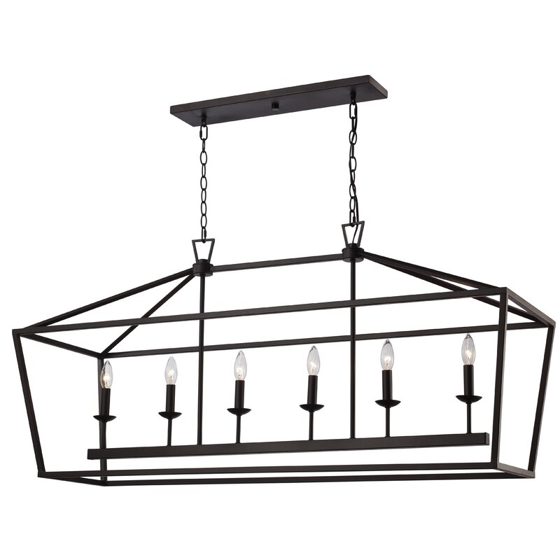 Carmen 6-Light Kitchen Island Linear Pendant
