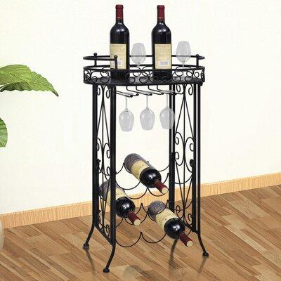 Weinregal mit Gläserhalterung für 9 Fl.   Küche und Esszimmer > Küchenregale > Weinregale   Home Etc