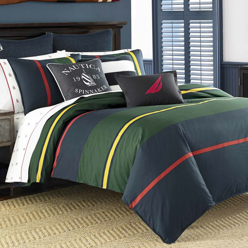 Heritage Classic Stripe 100% Cotton Comforter Set