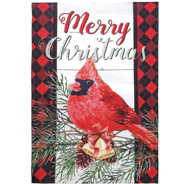 Dicksonsinc Merry Christmas Cardinal 2 Sided Polyester 18 X 13 In Garden Flag Wayfair