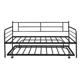 Friesen Twin Metal Daybed with Trundle by 17 Stories