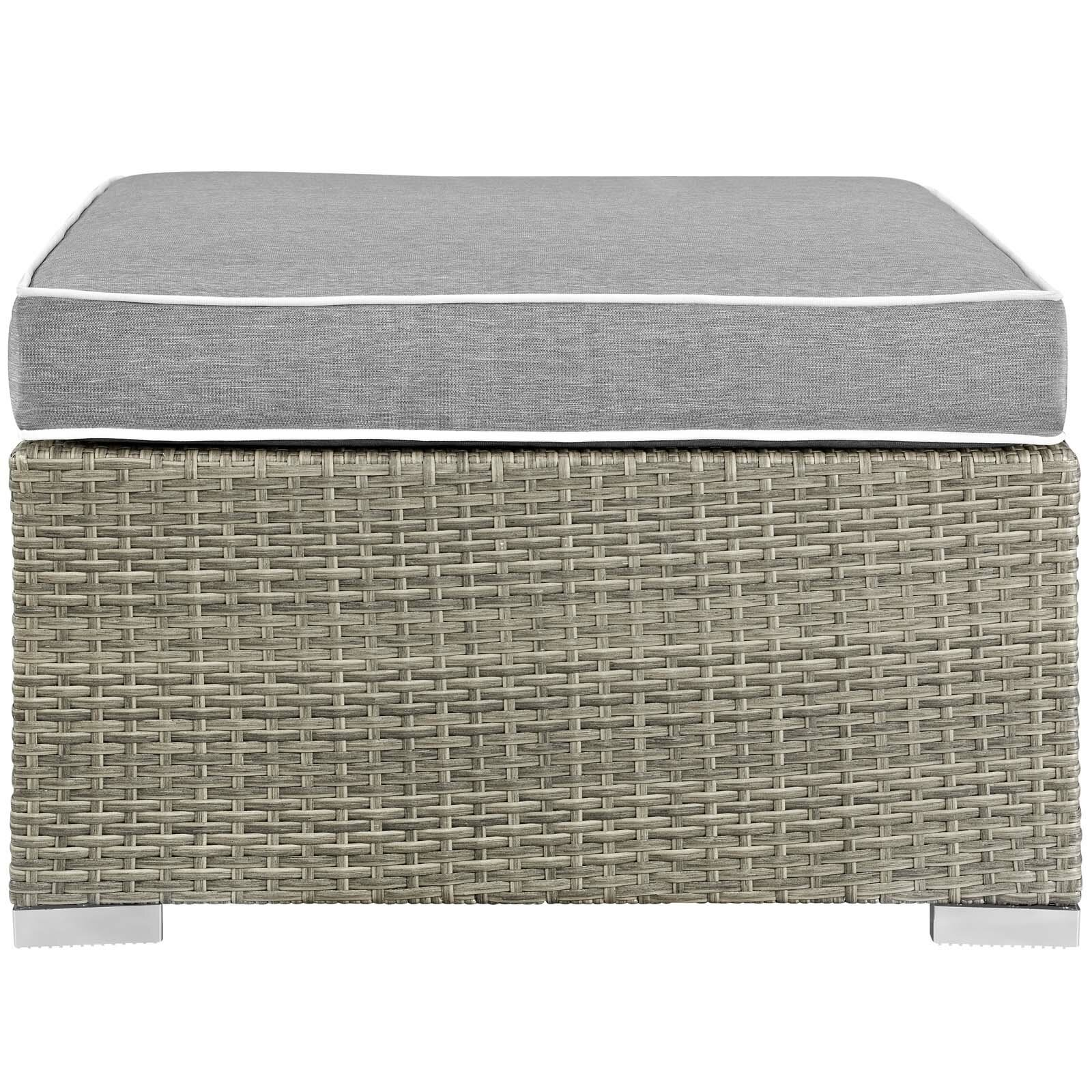 Superbe Highland Dunes Heinrich Outdoor Upholstered Fabric Patio Ottoman With  Cushion | Wayfair