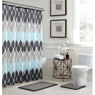 Clarisse 3 Piece Shower Curtain Set