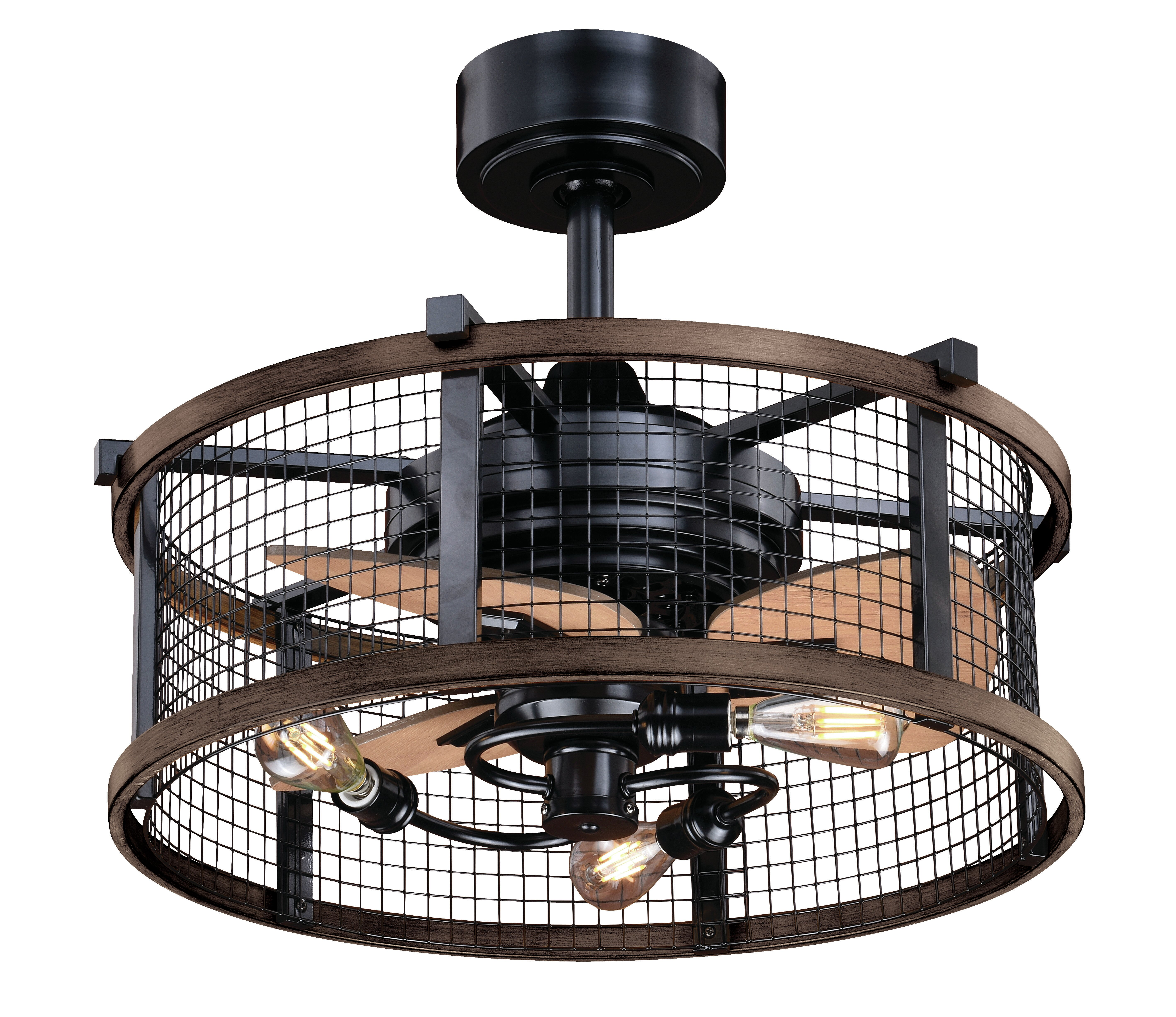 Williston Forge 21 Touchet 3 Blade Caged Ceiling Fan With Remote Control And Light Kit Included Reviews Wayfair