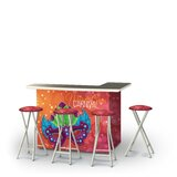 Zarah Fat Tuesday Mardi Gras 5-Piece Bar Set