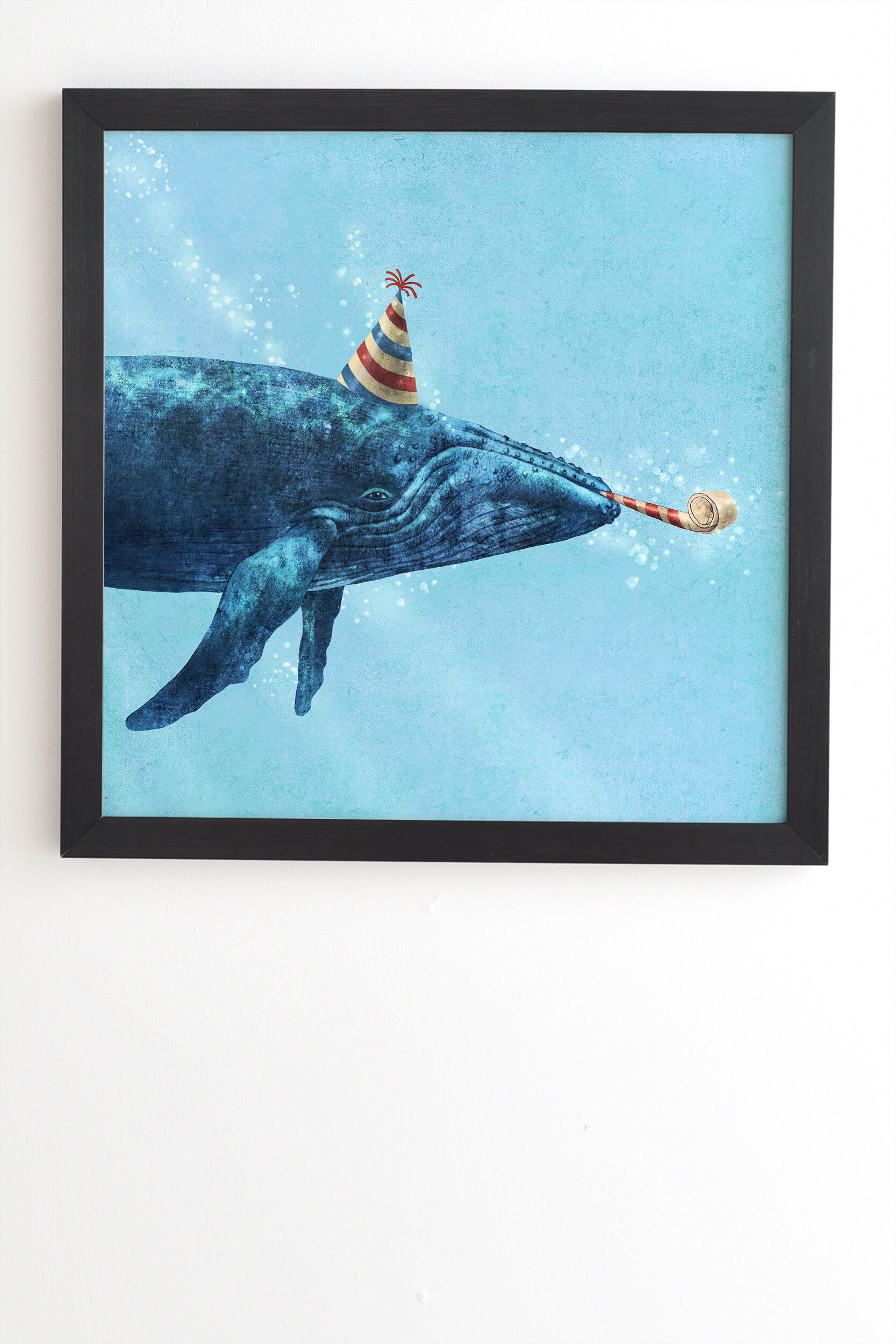 East Urban Home Party Whale Framed Graphic Art Print On Wood Wayfair