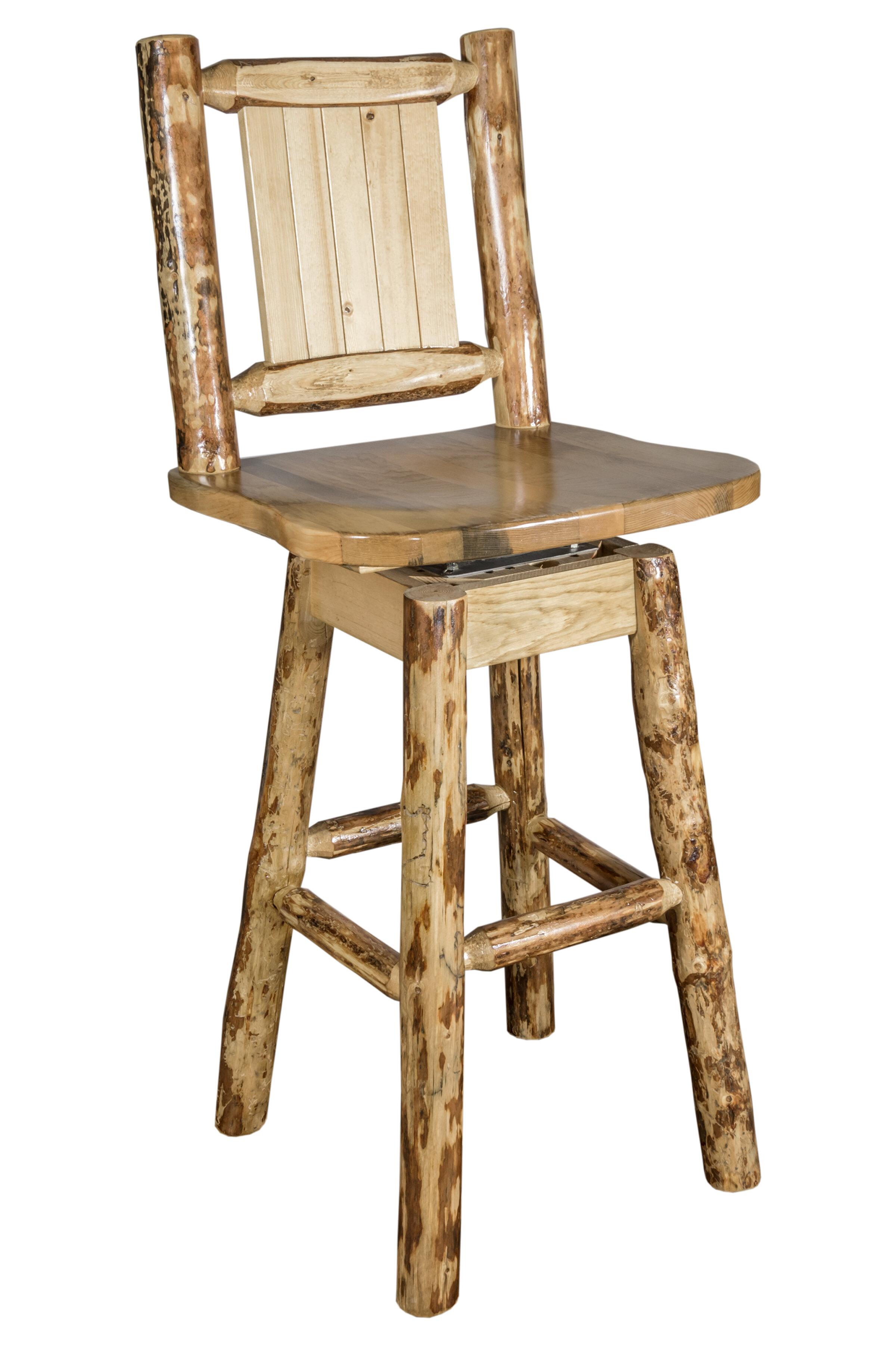 Loon peak tustin 24 wood swivel bar stool wayfair ca