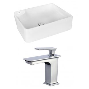 Find a Ceramic Rectangular Vessel Bathroom Sink with Faucet By Royal Purple Bath Kitchen