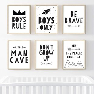 Baby Boy Nursery Wall Art | Wayfair