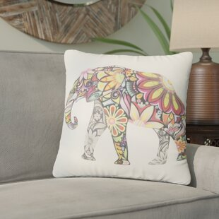 Loomis Colorful Elephant Throw Pillow