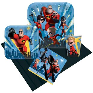 57 Piece The Incredibles Paper Disposable Party Supplies Set
