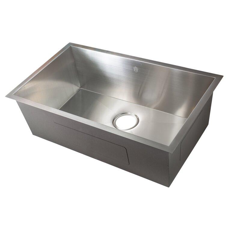 Silver Lake Kitchen And Bath Zero Radius 30 L X 18 W Undermount Kitchen Sink Wayfair