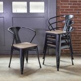 Racheal Metal Slat Back Arm Chair (Set of 4) by Trent Austin Design®