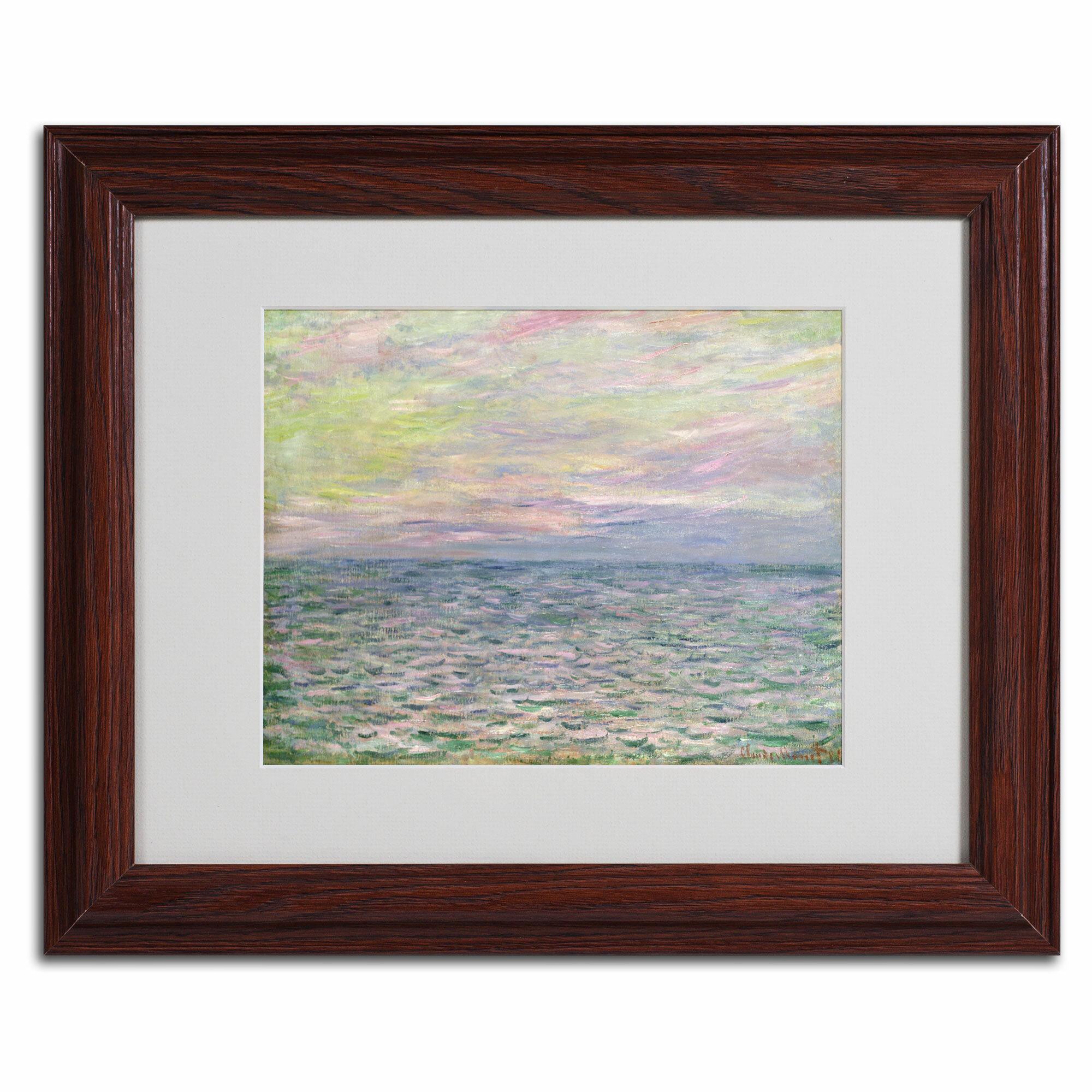 Vault W Artwork Coucher De Soleil A Pourvil By Claude Monet Matted Framed Painting Print Wayfair