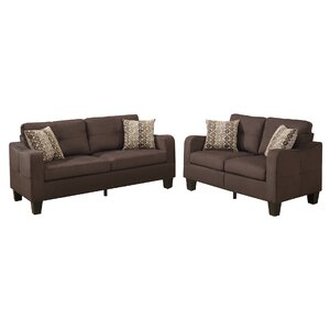 Bobkona Spencer 2 Piece Living Room Set