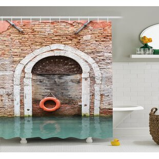 Italian Historical Venice Decor Single Shower Curtain