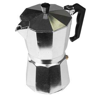 6-Shot Aluminum Moka Express Stovetop Espresso Maker