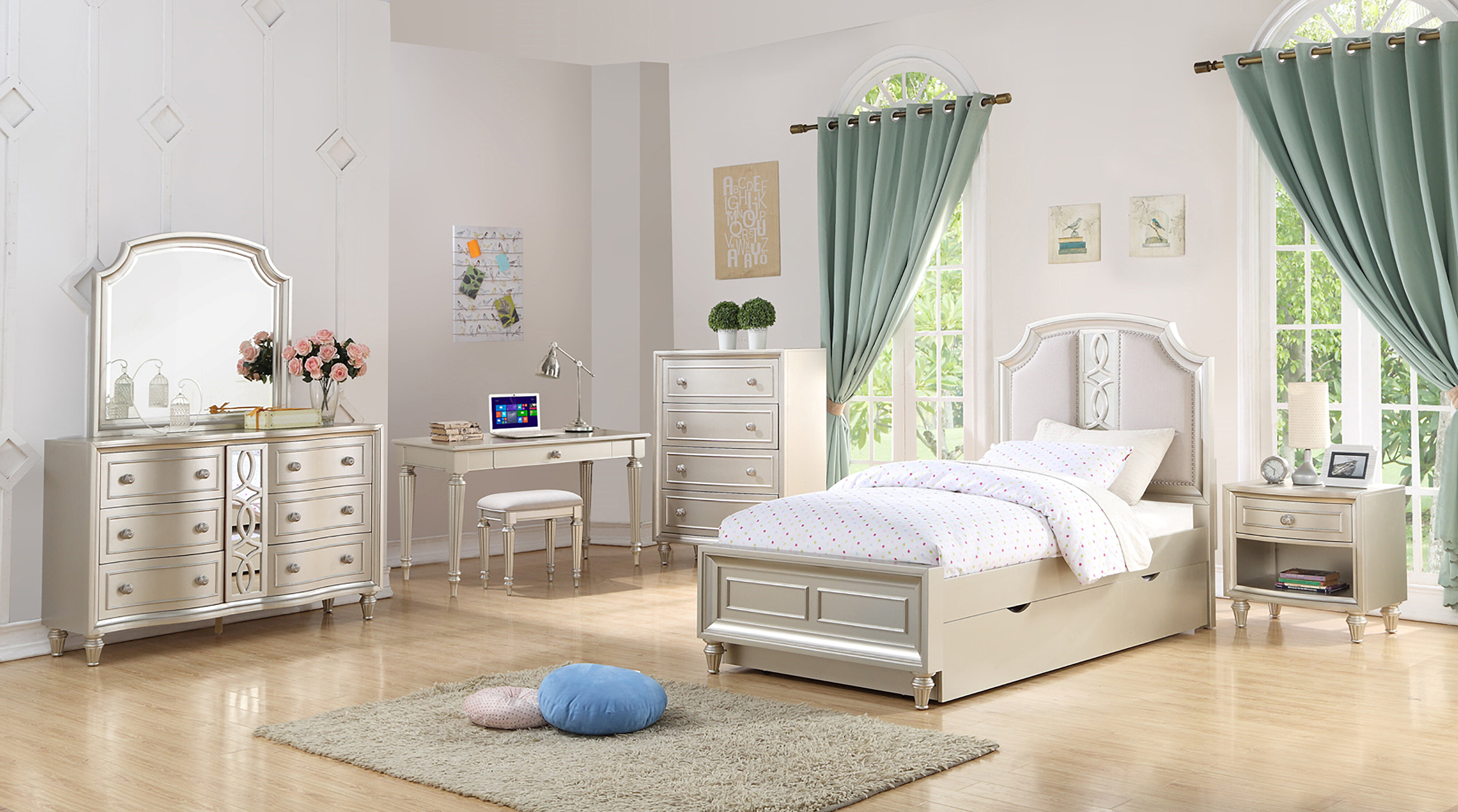 Image of: Grovelane Skeffingt Twin Bed With Trundle Reviews Wayfair