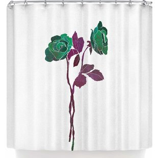 Frederic Levy-Hadida 2 Dark Roses Single Shower Curtain