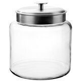 Anchor Hocking Glass Montana Jar with Brushed Metal Lid