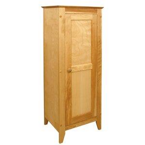 Hardwood Flat Panel 1 Door Accent Cabinet